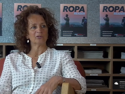 Anne in een interview bij de ROPA run 2019