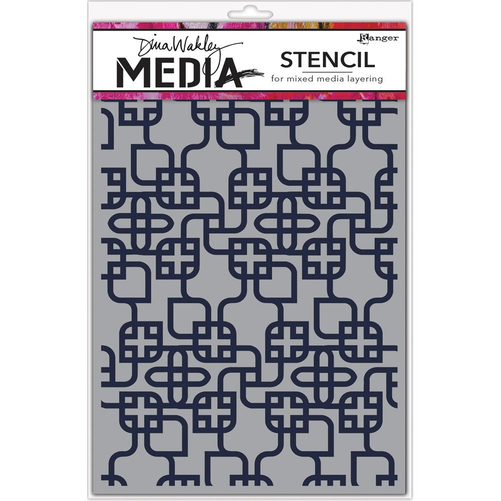 Ranger MDS58267 Dina Wakley Media Stencils 9X6-Linking Pattern