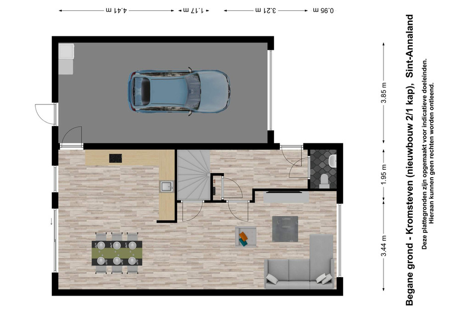 Kromsteven (tweekapper met garage)