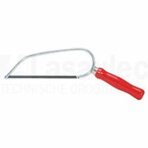 MINI-zaagbeugel voor metaal voorzien van houten greep en zaagblad.  Lengte: 150 mm. 1