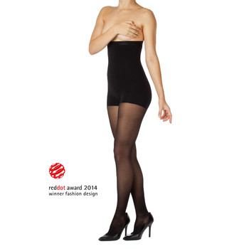 Women shape tights translucent