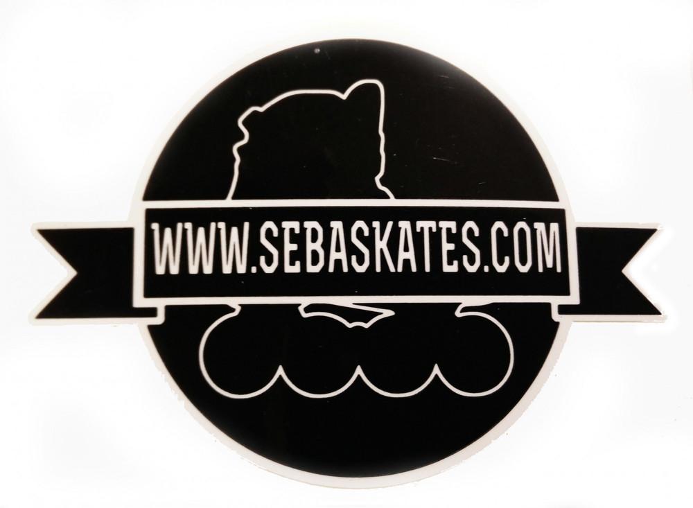 seba logo sticker round sticker skateshop rollerwave