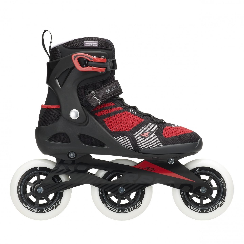 d0c848cc93b Rollerblade macroblade 110 3wd black/red tri skates de nieuwe rollerblade  macroblade 3wd 110mm skate