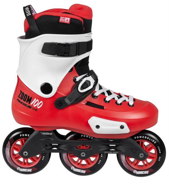 364b8024997 Powerslide zoom red 100mm tri skates nieuw seizoen, nieuwe looks, nieuwe  spec's! de