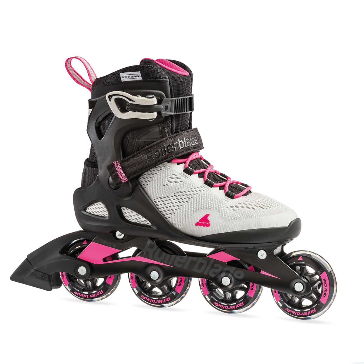 Macroblade 80 W Cool Grey Candy Pink - Recreatie Fitness Skates