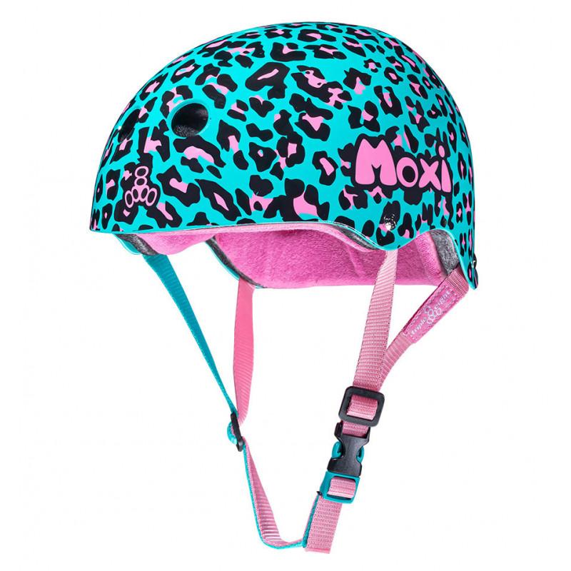The Certified Sweatsaver Moxi Leopard - Skate Helm