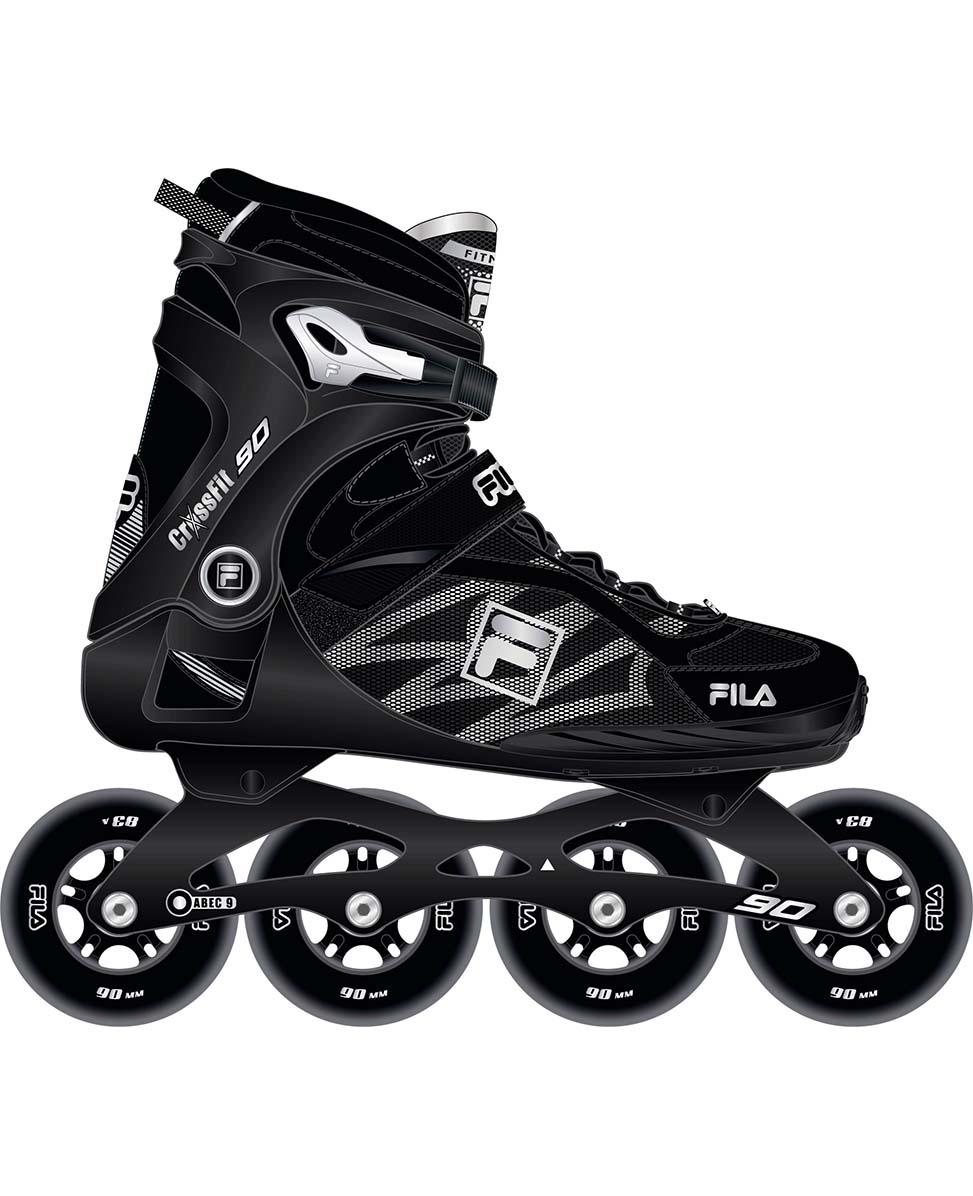 Crossfit 90 Black/Silver - Fitness Skates