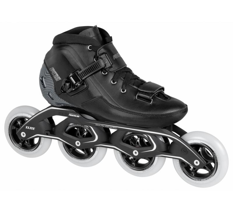R2 Black White Blue Speed Tour Skates