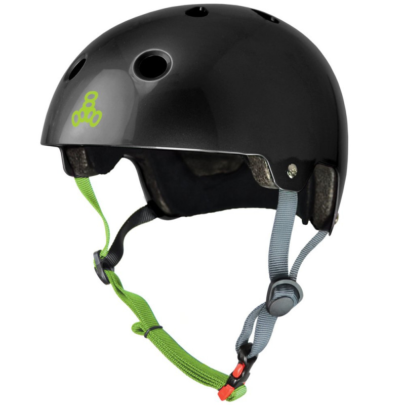 Dual Certified with EPS Liner Black gloss - Helm