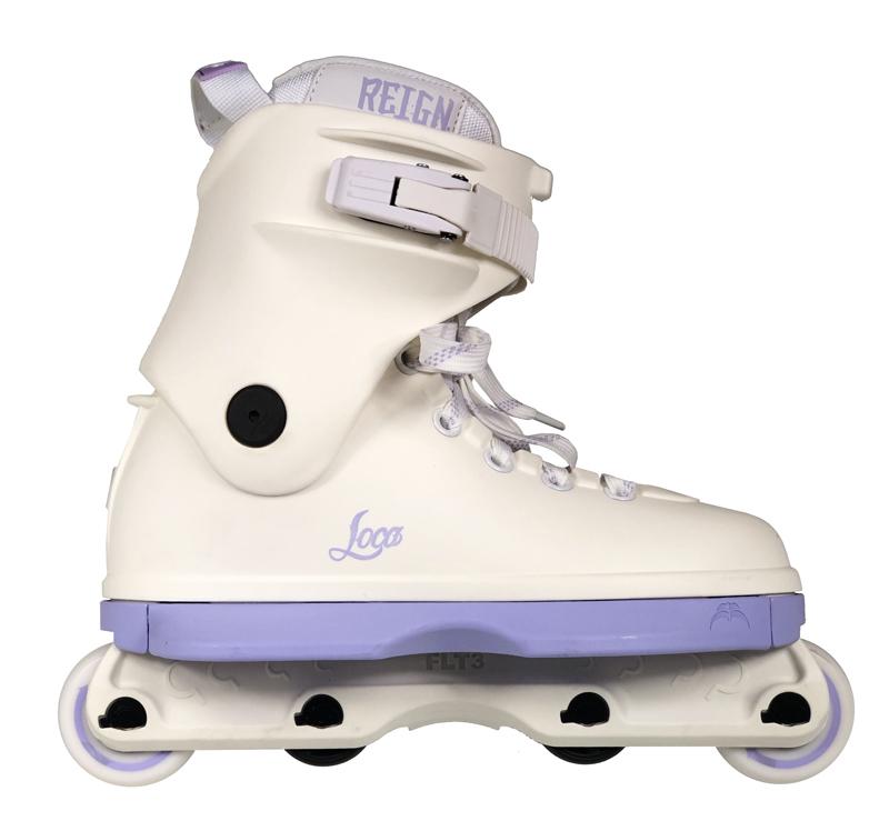 Skate Loca White/Lilac - Stunt Skates
