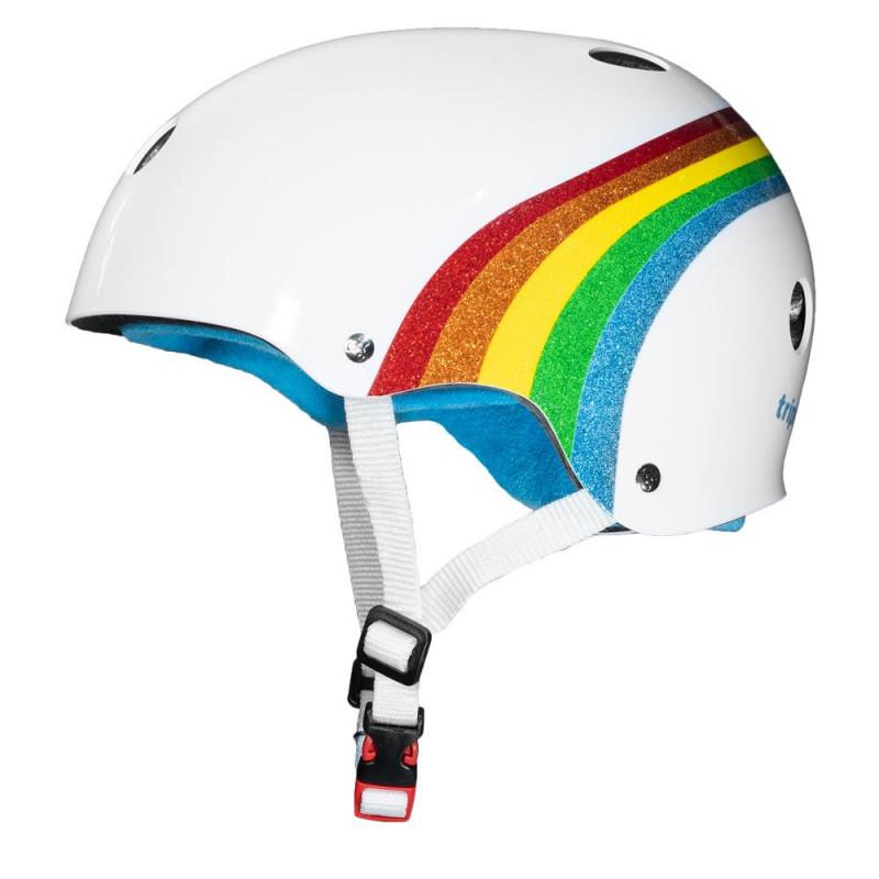 The Certified Sweatsaver Helmet Rainbow White - Skate Helm