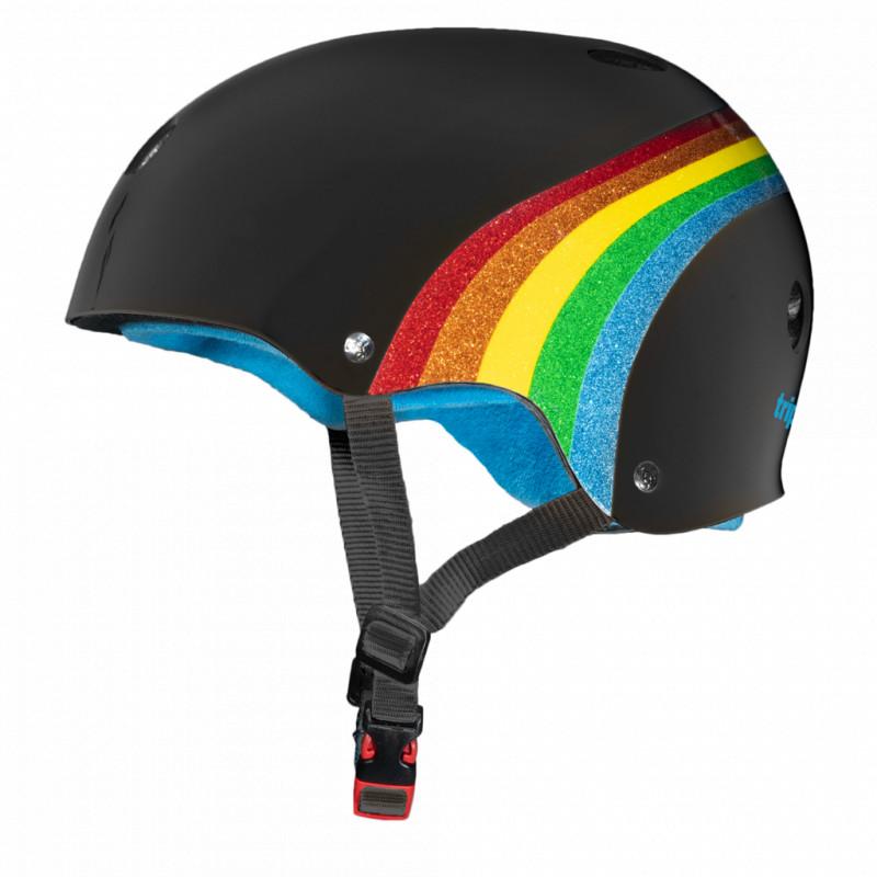 The Certified Sweatsaver Helmet Rainbow Black - Skate Helm