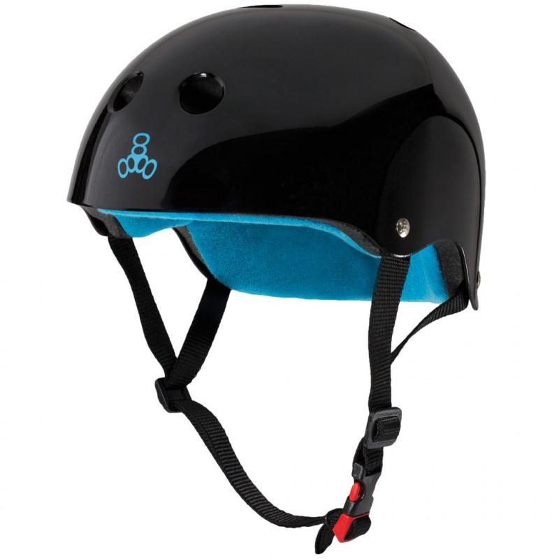 The Certified Sweatsaver Helmet Glossy Black - Skate Helm