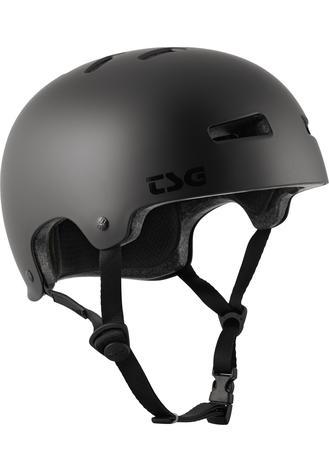 Evolution Solid Color Satin Dark Black - Skate Helm