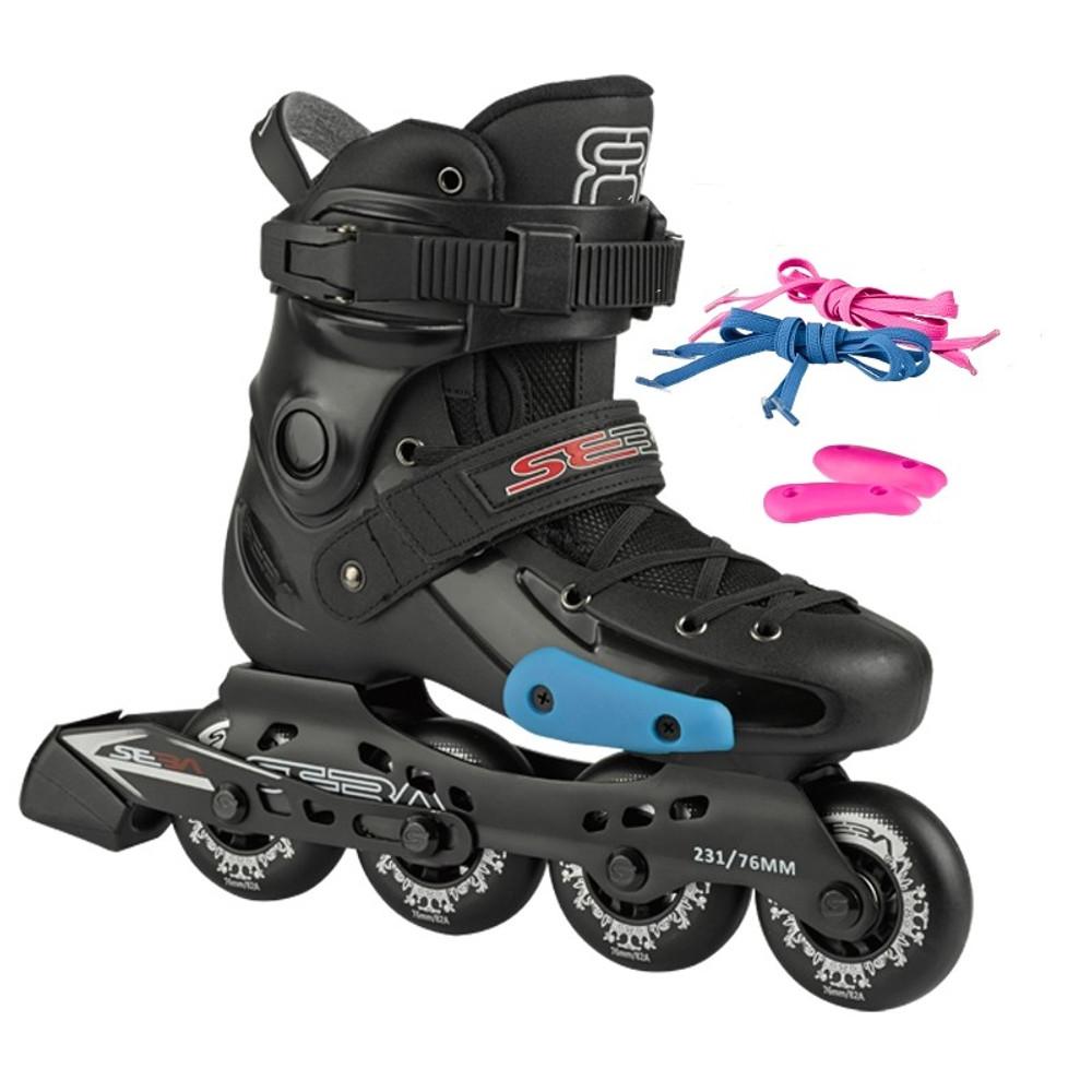 0098bd957aa Seba - FR Junior Black / Zwart - Verstelbare Kinder Skates