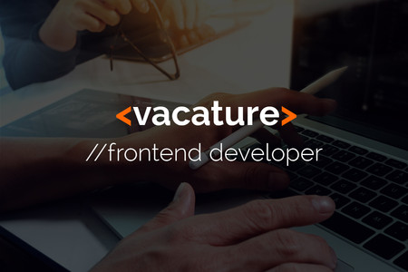 Vacature Frontend developer (m/v)